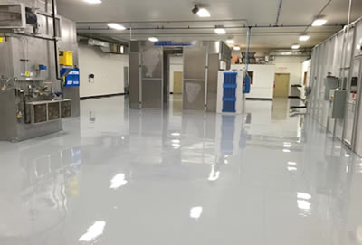 Factory floor coating